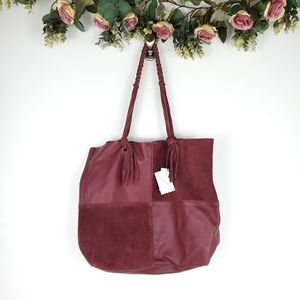 Free People Sundown Wilds Patchwork Bag Red